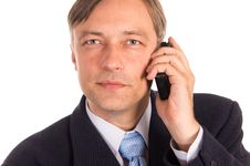 Free Businessman With A Phone Stock Photos - 21236363
