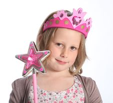 Young Girl In Fairy Princess Fancy Dress Costume Stock Photo