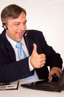 Free Man With Headphones Stock Photo - 21236530