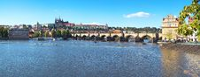 Historic Centre Of Prague - Panoramic Royalty Free Stock Image
