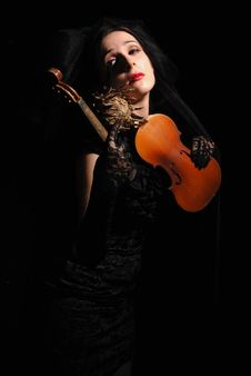 Free Lady With The Broken Violin Stock Images - 21237184