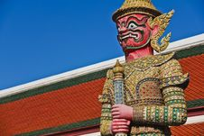 Free Demon Guardian At Wat Pra Kaew Stock Images - 21237304