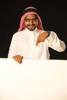 Free Arabi Male Model With Ad Space. Royalty Free Stock Image - 21237486