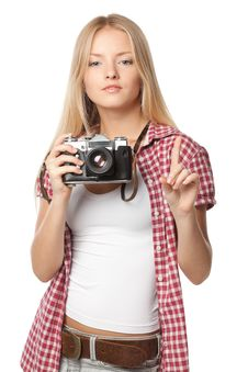 Free Photographer Asking For Attention Stock Photo - 21238520