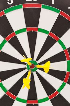 Free Darts Hitting The Bullseye Stock Photography - 21238552