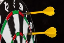 Free Yellow Darts Stock Image - 21239031
