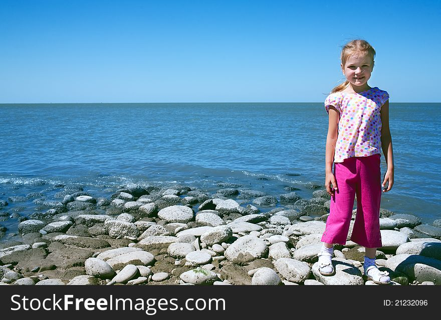 Child at the sea