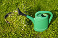 Free Green Watering Can. Royalty Free Stock Photos - 21242628