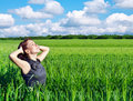 Free Young Woman In The Wheat Field Royalty Free Stock Photography - 21247867