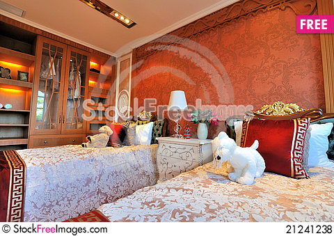 Free Bedroom And Closet In Noble Style Royalty Free Stock Photos - 21241238