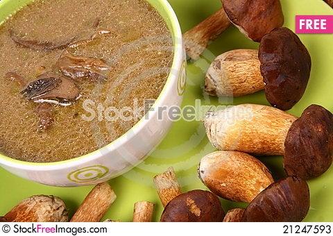 Free Mushroom Soup Stock Photos - 21247593