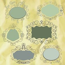 Free Vintage Frame On Old Paper Background. EPS8 Royalty Free Stock Photo - 21240055
