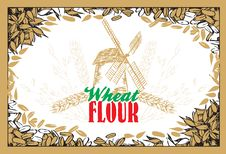 Free Wheat Flour Background Royalty Free Stock Photography - 21240127
