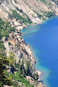 Free Western Shore Of Chaski Bay, Crater Lake Oregon Stock Photography - 21240592
