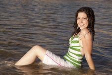 Free Smile Sit Water Stock Images - 21241104