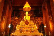 Free Buddha Statues  In Church Of Wat Pho, Bangkok Stock Photography - 21241402