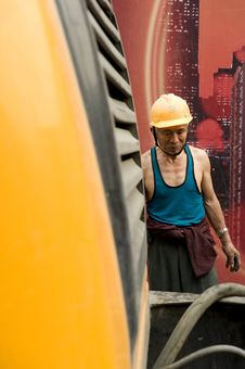 Free Hardworking Laborer Royalty Free Stock Image - 21241496