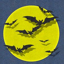 Free Bat Fly Halloween Fabric Recycle Royalty Free Stock Images - 21241679