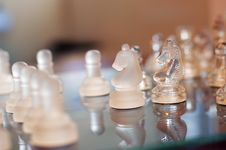 Free Glass Chess Set Stock Image - 21241901