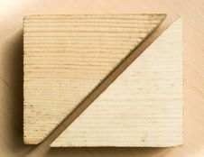 Free Wooden Block Cutting Royalty Free Stock Photo - 21241965