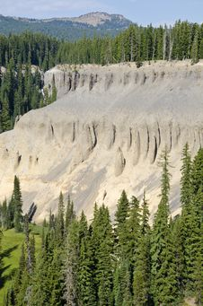 Free Fossil Fumaroles Of Crater Lake National Park USA Royalty Free Stock Image - 21241976