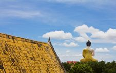 Behind Of The Large Buddha Statue. Stock Photography