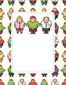 Free Cartoon Fat People Card Stock Photos - 21242373