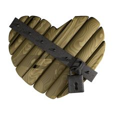 Free Wooden Heart Stock Photography - 21242742
