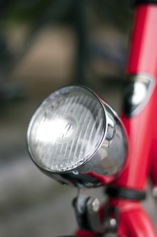Free Bicycle Lantern On A Bicycle Frame Stock Images - 21242974