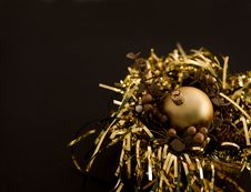 Free Golden Christmas Ball Royalty Free Stock Image - 21243846