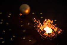 Free Christmas Candle And Ball Stock Images - 21243854