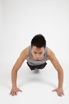 Free Chinese Man Pushing Up Stock Images - 21244394
