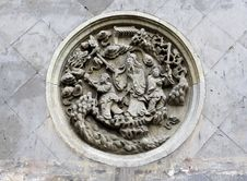 Free Stone Carving On The Wall Royalty Free Stock Photos - 21244418
