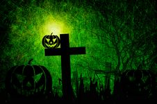 Grunge Textured Halloween Royalty Free Stock Photography