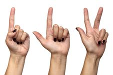 Free Female Hands Countdown Gesture Stock Images - 21244914