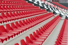 Free Red & White & Black Stadium Stands Stock Photos - 21245103