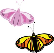 Free Colorful Butterfly Royalty Free Stock Image - 21245156