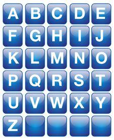 English Text Alphabet Stock Photography