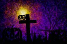 Free Grunge Textured Halloween Night Background Stock Images - 21245504