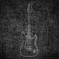 Free Electric Guitar Background Royalty Free Stock Photo - 21245665