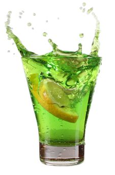 Free Cup With Green Cocktail Stock Images - 21246204