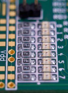 Resistors And LEDs Stock Image