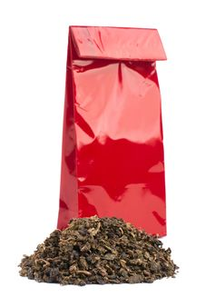 Free Heap Of Black Tea And Tea Package Stock Image - 21246411