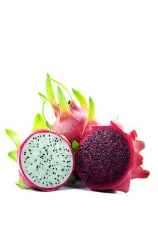 Dragon Fruit In Red And White Color