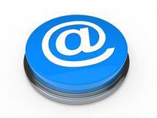 Free 3d Button Email Blue Royalty Free Stock Photo - 21248215