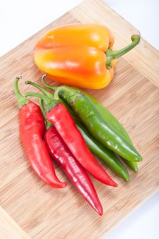 Free Sweet And Hot Pepper Royalty Free Stock Photo - 21249105