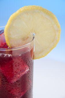 Wine Whit Lemon, Vino De Verano Stock Photo