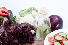 Free Fresh Salad Vegetables Stock Photography - 21249272