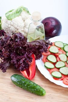 Free Fresh Salad Vegetables Stock Photo - 21249280