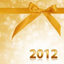 Free Year 2012 With Gold Sparkling Background Stock Images - 21249404